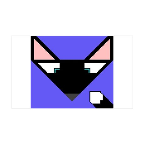 Cubist Black Fox Head and Tail 35x21 Wall Decal