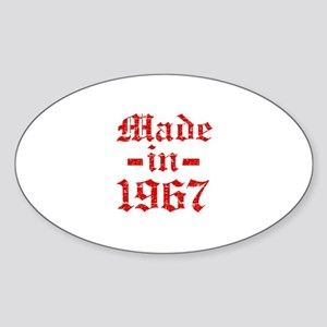 Made In 1967 Sticker (Oval)