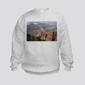 Grand Canyon, Arizona 2 (with caption) Kids Sweats
