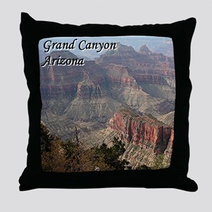 Grand Canyon, Arizona 2 (with caption) Throw Pillo