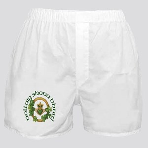 Christmas Claddagh Boxer Shorts