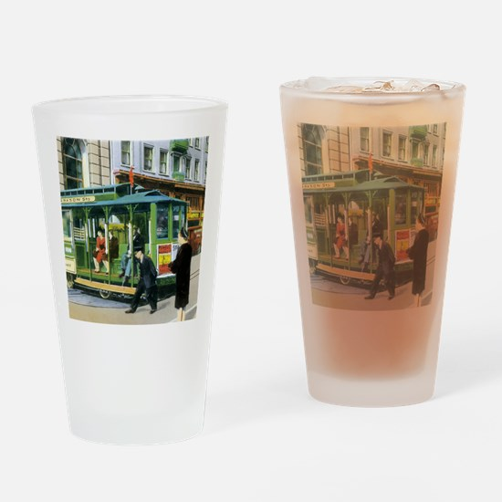 Vintage San Francisco Cable Car Drinking Glass