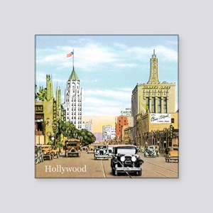 "Vintage Hollywood Square Sticker 3"" x 3"""