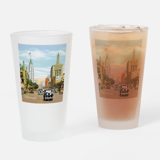 Vintage Hollywood Drinking Glass