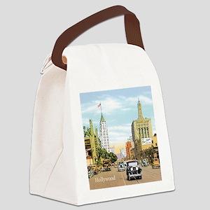 Vintage Hollywood Canvas Lunch Bag