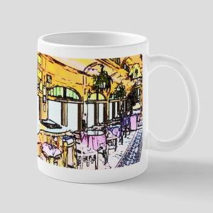 Cafe in Railroad Car Mug