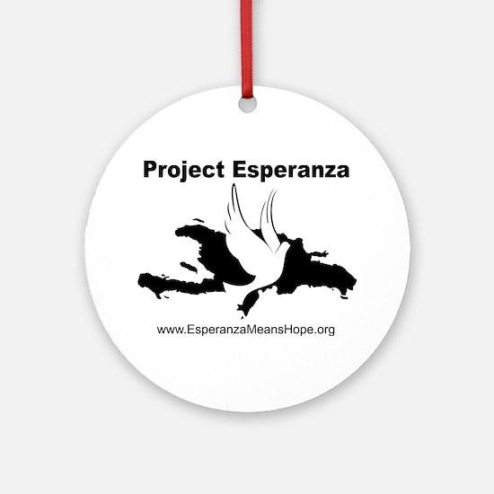 Project Esperanza Apparel and More Ornament (Round