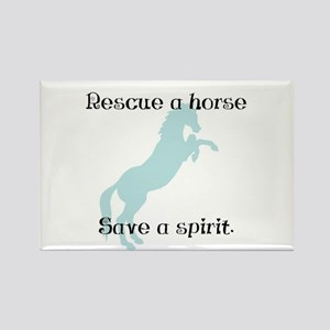 Rescue a horse... Rectangle Magnet (10 pack)