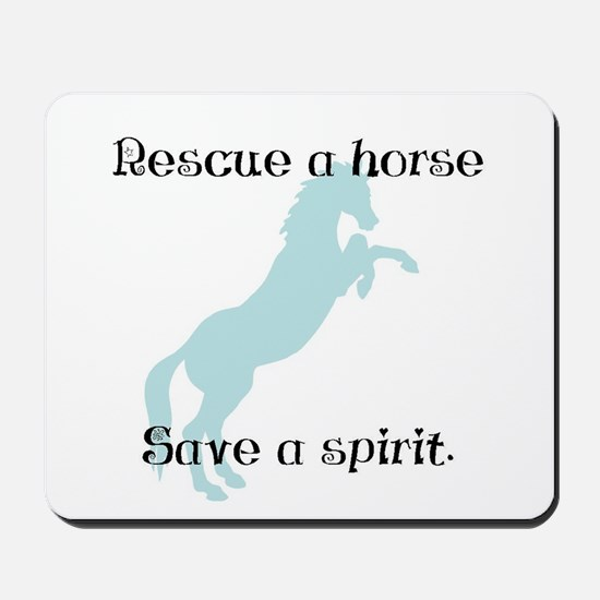 Rescue a horse... Mousepad