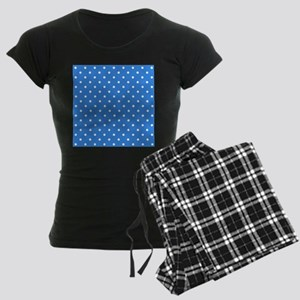 Blue Polka Dot. Women's Dark Pajamas