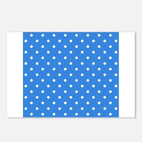 Blue Polka Dot. Postcards (Package of 8)