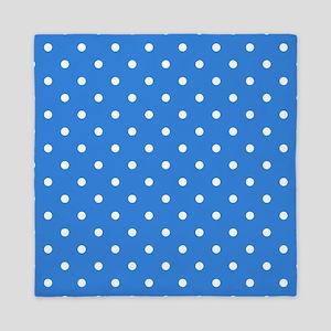 Blue Polka Dot. Queen Duvet