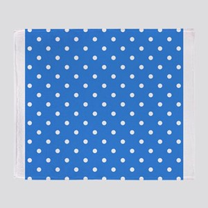 Blue Polka Dot. Throw Blanket