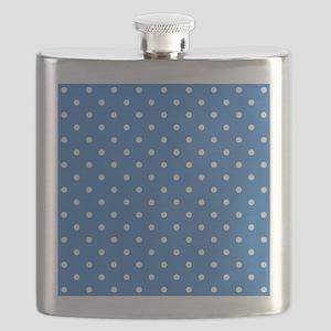 Blue Polka Dot. Flask