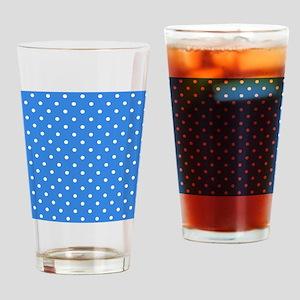 Blue Polka Dot. Drinking Glass