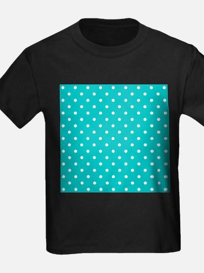 Teal dot pattern. T