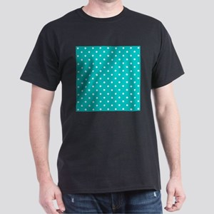 Teal dot pattern. Dark T-Shirt