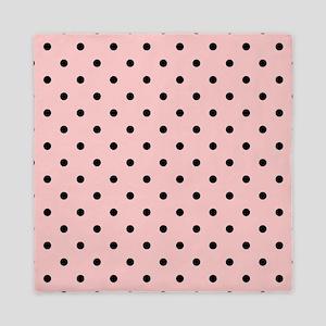Pink and Black Dot Patttern. Queen Duvet