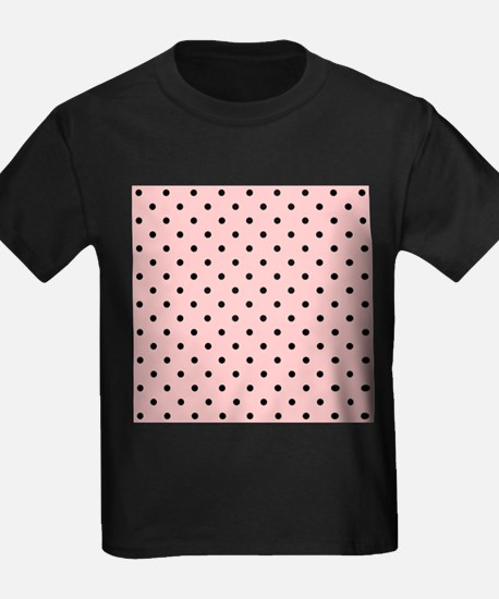 Pink and Black Dot Patttern. T