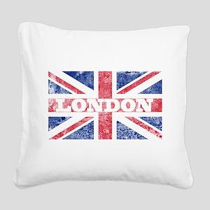 London2 Square Canvas Pillow