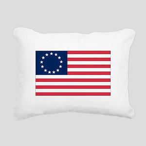 Betsy Ross flag Rectangular Canvas Pillow