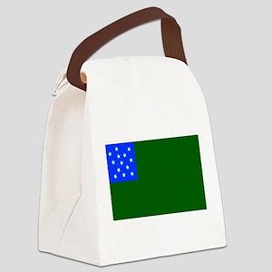 Green Mountain Boys Flag Canvas Lunch Bag