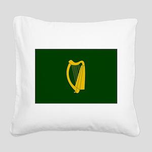 Irish Flag 2 Square Canvas Pillow