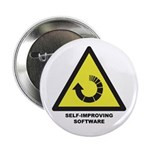 """Self-Improving Software 2.25"""" Button"""