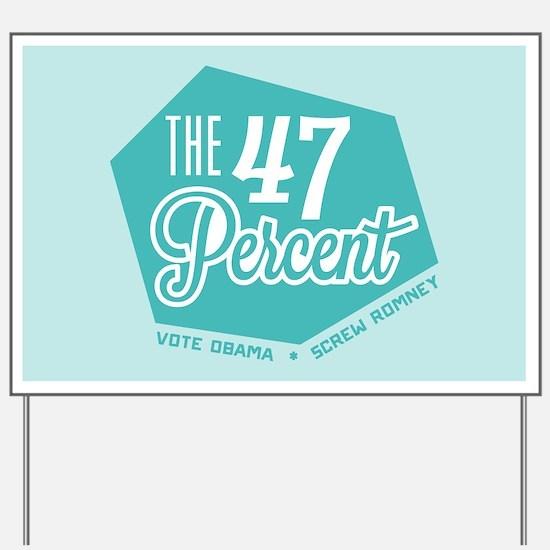 The 47 Percent Yard Sign