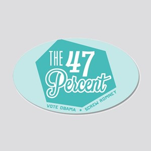 The 47 Percent 20x12 Oval Wall Decal