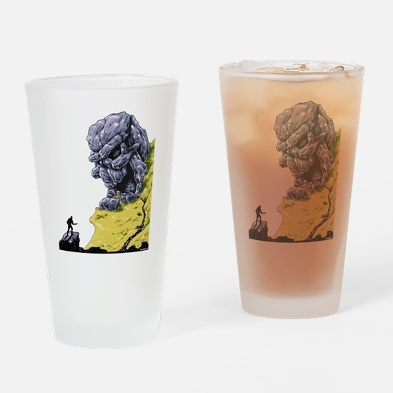 Disc Golf SKULL CAVE Drinking Glass