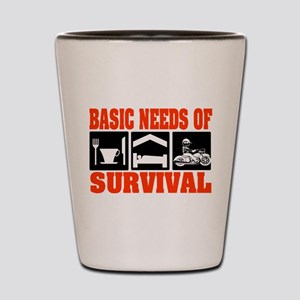 Basic Needs of Survival Shot Glass
