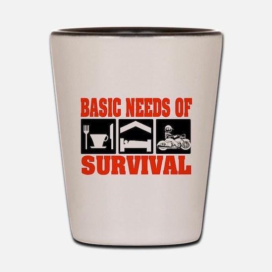 Basic Needs of Survival Shot Glass