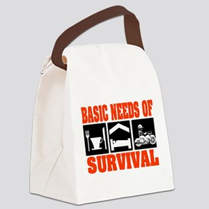 Basic Needs of Survival Canvas Lunch Bag