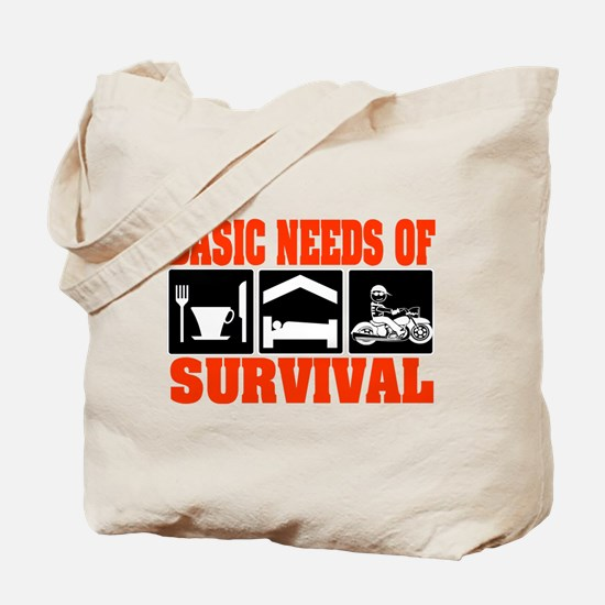 Basic Needs of Survival Tote Bag