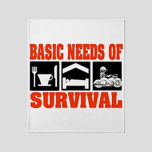 Basic Needs of Survival Throw Blanket