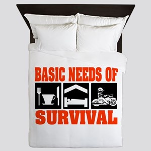 Basic Needs of Survival Queen Duvet