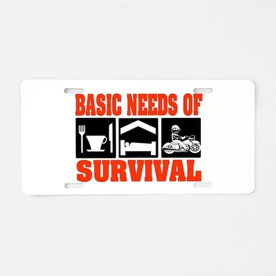 Basic Needs of Survival Aluminum License Plate