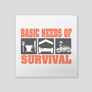 "Basic Needs of Survival Square Sticker 3"" x 3"""