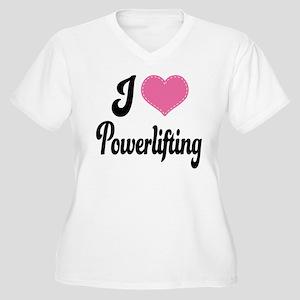 I Love Powerlifting Women's Plus Size V-Neck T-Shi
