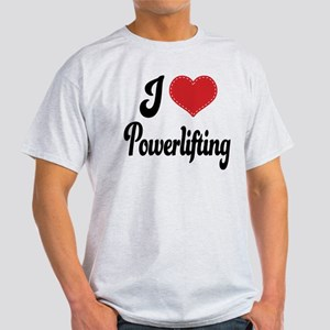 I Love Powerlifting Light T-Shirt