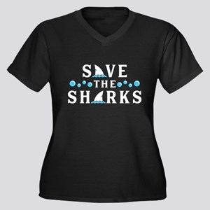 Save The Sharks Plus Size T-Shirt