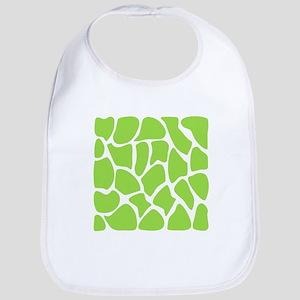 Green Giraffe Print Pattern. Bib