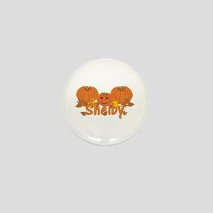 Halloween Pumpkin Shelby Mini Button