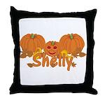 Halloween Pumpkin Shelly Throw Pillow