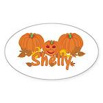 Halloween Pumpkin Shelly Sticker (Oval)