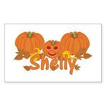 Halloween Pumpkin Shelly Sticker (Rectangle)