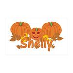 Halloween Pumpkin Shelly 35x21 Wall Decal