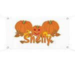 Halloween Pumpkin Shelly Banner
