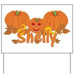 Halloween Pumpkin Shelly Yard Sign